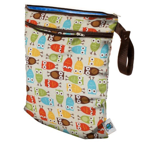 Planet Wise Wet/Dry Diaper Bag (Color: Owl)