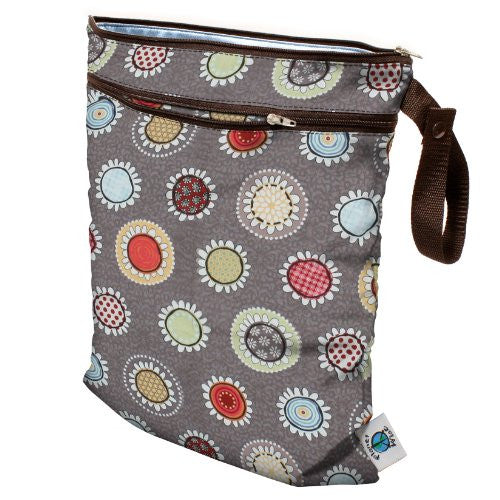 Planet Wise Wet/Dry Diaper Bag (Color: Funky Flowers)