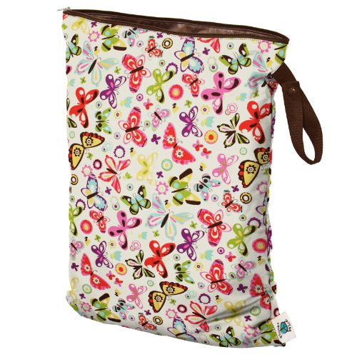 Planet Wise Wet Diaper Bag, Butterflies, Large