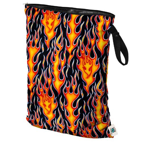 Planet Wise Diaper Wet Bag (Size: Large Color: Flame)