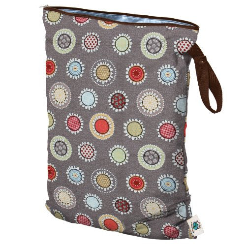 Planet Wise Wet Diaper Bag, Funky Flowers, Large