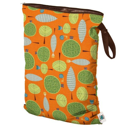 Planet Wise Wet Diaper Bag, Orange Woods, Large