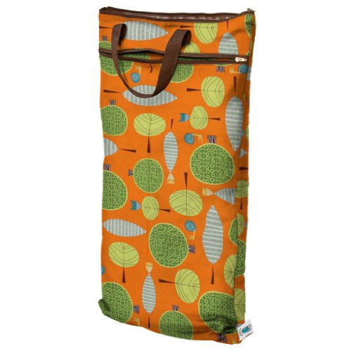 Planet Wise Wet/Dry Diaper Bag - Orange Woods
