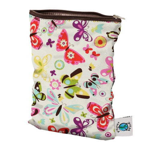 Planet Wise Wet Diaper Bag, Butterflies, Medium