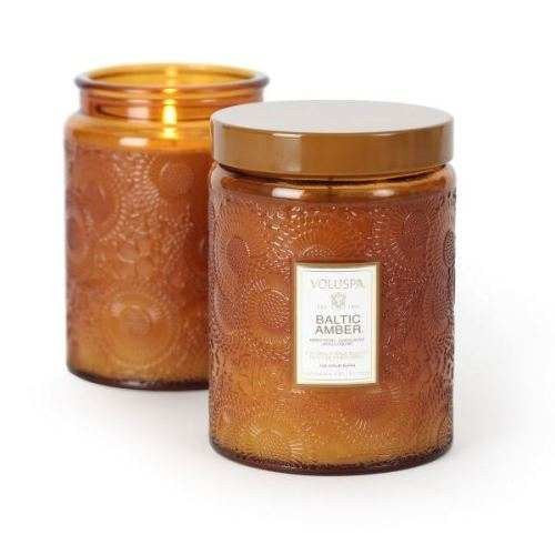 Japonica, Baltic Amber Large Glass Jar Candle 16 oz