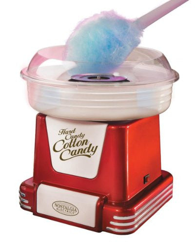 Nostalgia Electrics Hard Candy/Sugar-Free Retro Cotton Candy - Red