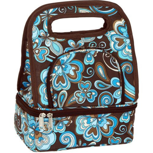 Picnic Plus Savoy Insulated Lunch Tote (Color: Cocoa Cosmos)