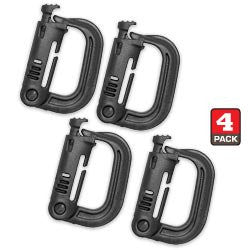GRIMLOC Locking D-Ring (Pack of 4) (Black)