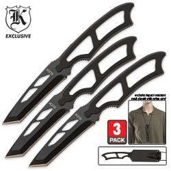 "Fury Tactical SLIM Neck Knife 6.5"" Sheath Inc"