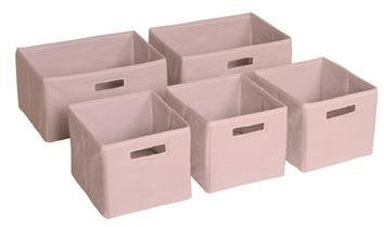 Pink Storage Bins - Set of 5