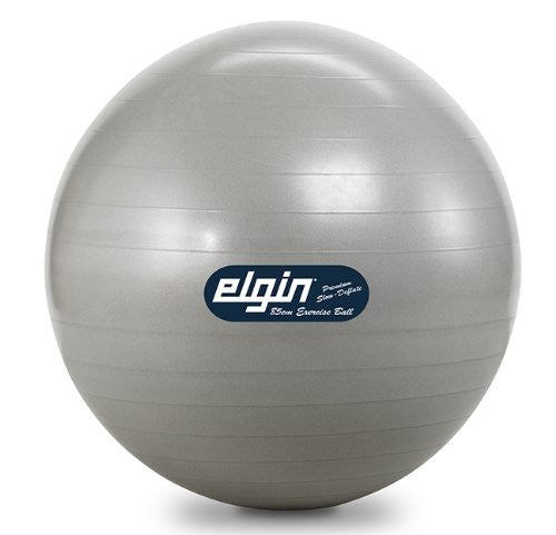 Elgin Commercial Duty Burst Resist Exercise Ball-Sizes Range 45 to 85 cm (Size: 85cm Silver)