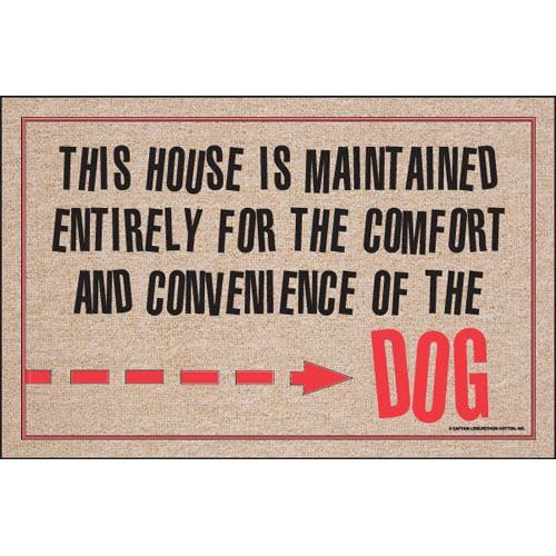 For The Comfort Of The Dog Doormat