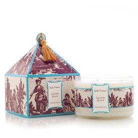 Classic Toile Three-Wick Candle- Japanese Quince