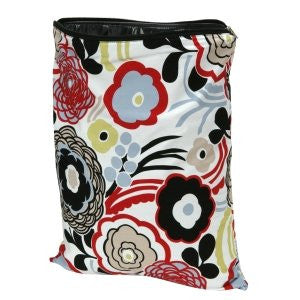Planet Wise (Medium) Washable/Reusable Wet Bag for Swimwear, Diapers, Gym, Yoga, Travel, etc (Color: Art Deco)