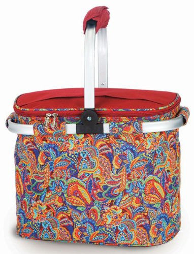SHELBY Insulated Market Tote (Color: Jewel Paisley)