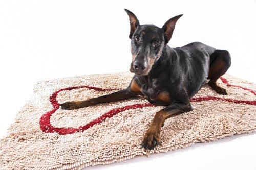 XL Doormat - Beige/Red Bone