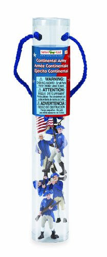 Designer Plastic Miniatures In Toobs - American Revolutionary War-Continental 6 /Pkg