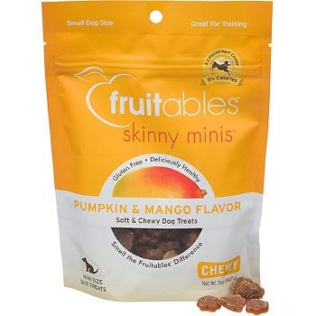 5 oz  FRUITABLES SKINNY MINIS DOG TREATS PUMPKIN & MANGO