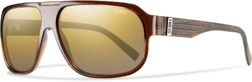 Gibson Brown Wood with Polarized Gold Gradient Mirror Lens