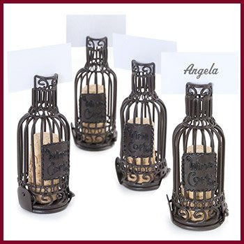 Place Card Holders Wine Bottle Cork Cages (Set of 4)