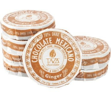 Taza Chocolate Mexicano Chocolate Disc, Ginger, 2.7 Ounce