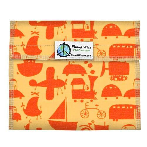 Planet Wise Sandwich and Snack Bags (Size: Sandwich Bag Color: Red Ride On! Shadow)