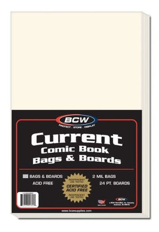 (50) Current Comic Assembled Bags & Boards (Standard Size)