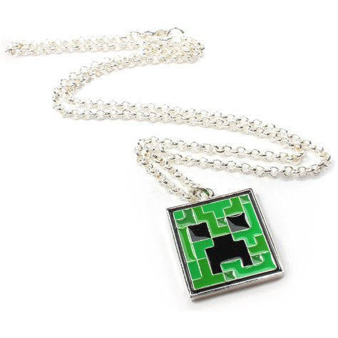 Minecraft Creeper Pendant Necklace  One Size