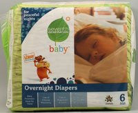 Seventh Generation Baby Overnight Diapers Stage 6 -- 17 Diapers