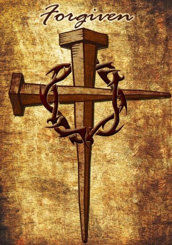 Forgiven - Standard Size 28 Inch X 40 Inch Decorative Cross Flag