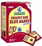 Wholesome Sweetners Blue Raw Agave Packet 8.6 OZ