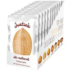 Justins Nut Butter Squeeze Packs, Classic Peanut Butter, Natural 1.15 OZ