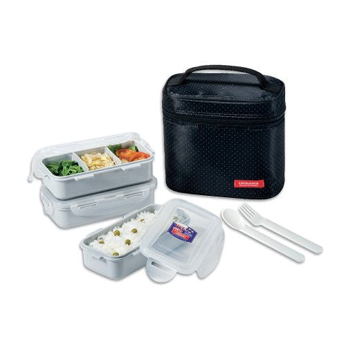 LUNCH BOX 3P SET(BLACK)