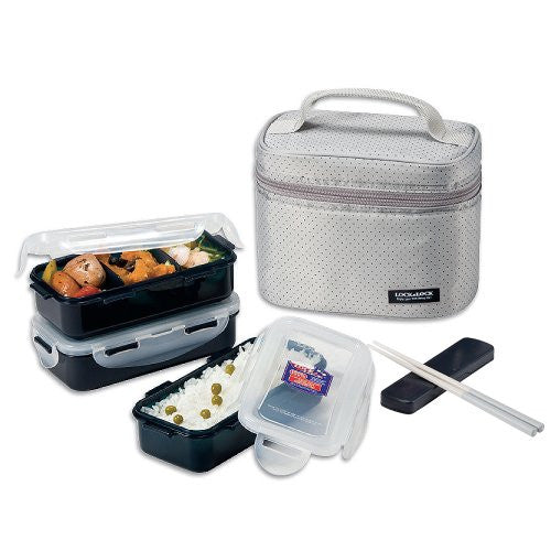 LUNCH BOX 3P SET(GRAY)