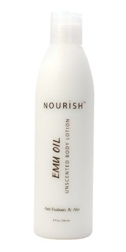 Nourish Emu Oil Lotion Unscented Body Lotion Reduces Stretch Marks, Protects Skin