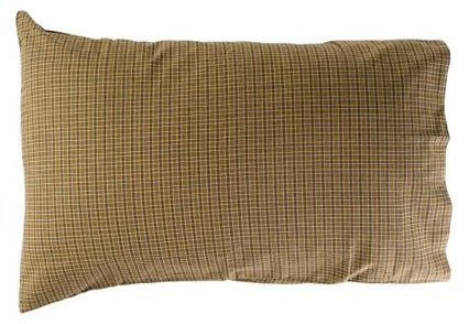 Tea Cabin Green Plaid Pillow Case Set of 2 21x30""