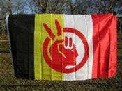 American Indian Movement Polyester Flag - 3'x5'