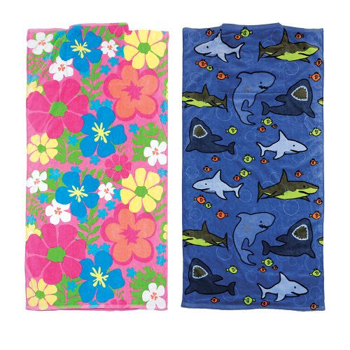 Kids' Sun Smarties Beach Towel in a Bag FLORAL