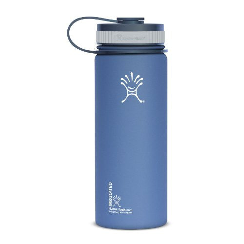 Flask Wide Mouth with Flat Cap 18 oz. -  Everest Blue