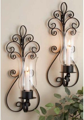 S/2 PEAR SCONCES GB