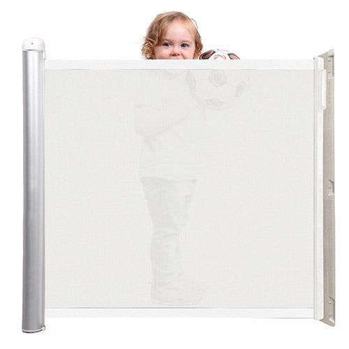 Lascal Kiddy Guard Avant Retractable Child Safety Gate White Mesh