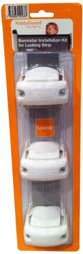 Lascal KiddyGuard Avant Bannister Kit for Locking Strip (Color: White)