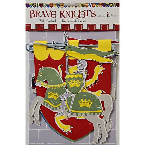 Brave knights garland - 8 ft long - 8 pennants