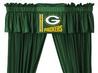 VALANCE Green Bay Packers - Color Dark Green - Size 88x14