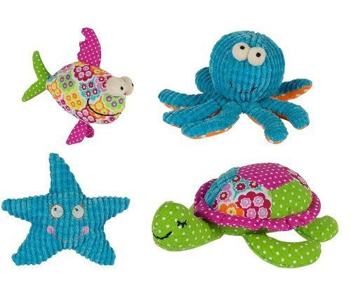Sea Life Rattles, 4 assorted