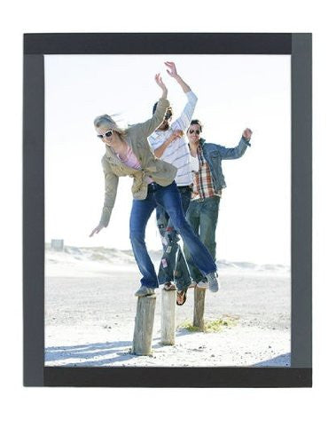 "Four Square Picture Frame Color: Gray, Size: 8"" x 10"""