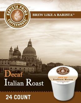 Barista Prima Coffeehouse® Italian Roast Decaf Coffee K-Cup® Packs, 24/Bx