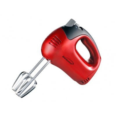 Brentwood 5-Speed Hand Mixer, Red HM46