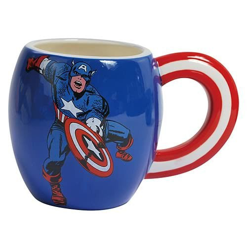 Captain America Mug; 15-oz