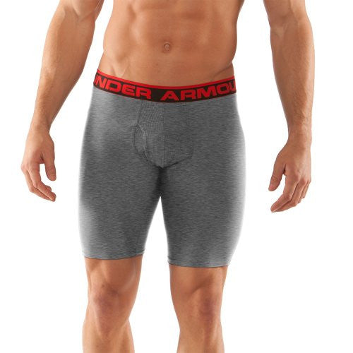 "Original 9"" BoxerJock - True Gray Heather/Red, 2X-Large"